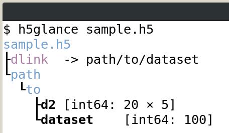H5glance - terminal HDF5 inspector - HDF5 - HDF Forum